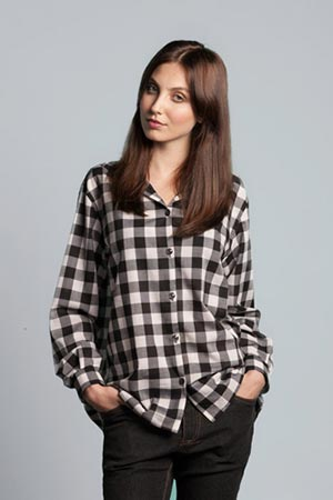 Photo of Shirt Sewing Pattern, a PDF Sewing Pattern Download, a Cotton Gingham Shirt Pattern Online